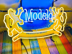 New Cerveza Modelo Especial Light Neon Sign 20x16 With Hd Vivid Printing