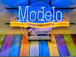 New Cerveza Modelo Especial Lamp Light Neon Sign 20x16 With Hd Vivid Printing