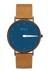 Aina Pole Watches N-1003ae-bl09 Single Hand 36mm Electric Blue W Mustard Band