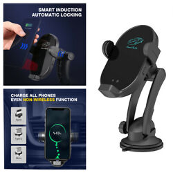 Universal Car Cell Phone Holder Mount Wireless Charger W/3 Magnetic Suction Head