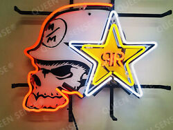New Rockstar Energy Drink Neon Sign 20x16 With Hd Vivid Printing Technology