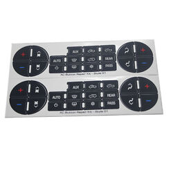 2 Radio And Ac Dash Control Button Sticker Repair Decal Fit For Gm Chevrolet Decal