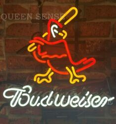 New St. Louis Cardinals Bud Neon Sign 20x16 With Hd Vivid Printing Technology