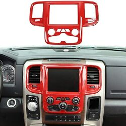 For 2011-17 Dodge Ram Center Console Navigation Gps Decor Cover Red Accessories