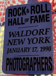 Rock And Roll Hall Of Fame - Waldorf Hotel - January 17 1990 - Photographers Pass