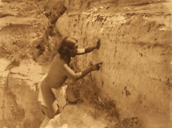 Edward Curtis - Counting The Record - 1921 - Vintage Large Format Photogravure