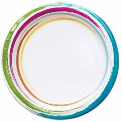 Round Party 7   Brushstrokes Collection   Value Pack Of 576 Paper Plate, 7 Inch