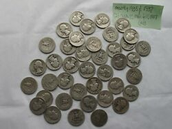 ..washington Quarter In Roll Of 40 Coins, 1936 Thru 1937 And 1938 And 1941.