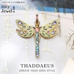 Pendant Golden Dragonfly2021 Spring Brand Jewelry Bohemia Playful 925 Sterling