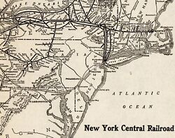 1926 Antique New York Central Railroad Map Vintage Railway Map 8799
