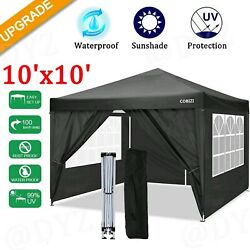 Canopy 10x10and039 Folding Wedding Party Oxford Cloth Tent With 4 Side Walls Hot