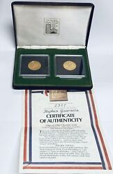 1980 Official Olympic Issue Lake Placid U.s. Winter Olympic Games 2 Medallions