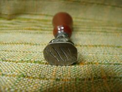 Antique 19th Century Silver And Agate Aw Sealing Wax Stamp Seal