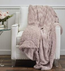 The Connecticut Home Company Faux Fur With Sherpa Reversible Throw Blanket Many