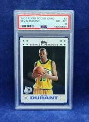 2007-08 Topps Rookie Card 2 Kevin Durant Supersonics Rc Psa 8 Nm-mt 🔥🔥🔥📈📈