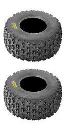 Set Of 2 Rear Itp Holeshot Xc 20x11-9 Atv Tires For Bombardier Ds 250 2006