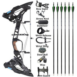 Compound Bow Dual-use Steel Ball 21.5lbs-60lbs Archery Arrows 330fps Hunting