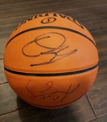 Kobe Bryant Shaquille Oand039neal La Lakers Dual Signed Autographed Basketball W/coa