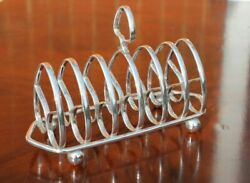 Nice Antique Silver Plated Toast / Letter Rack Edward Barnard And Sons London 1908