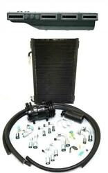 Gearhead Slimline Ac Heat Defrost Air Conditioning Kit + Fittings And Compressor