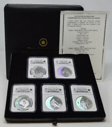 2007 Canada 8-pc. Olympic Silver Gold Set Pf70 Ultra Cameo Ngc With Box Coa