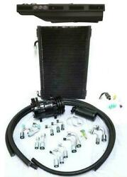 Gearhead Slimline Air Conditioning Heat Defrost Ac Kit Black Louvers + Fittings