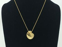 Very Scarce And Co. Solid 18k Edition Peretti Touchstone Necklace, 24 In