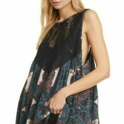 Nwt Free People Count Me In Trapeze Tunic Black Combo Size Small Msrp 88