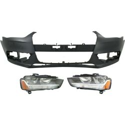 Bumper Covers Set Of 3 Front 8k0807065cgru 8k0941003ad 8k0941004ad For Audi A4
