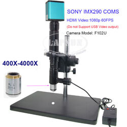 4000x Zoom C-mount Coaxial Light Lens W Sony Coms Industry Camera Microscope Set