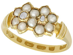 Antique Pearl And Diamond 18k Yellow Gold Dress Ring