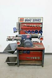 Ammco 4000b Disc And Drum Brake Lathe W/ Bench And Deluxe Adapter Kit