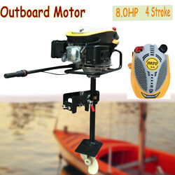 8hp 4 Stroke Heavy Duty Outboard Motor Fishing Boat Engine W/air Cooling System
