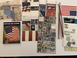 Scrapbooking Cardmaking Lot Papers Stickers Americana Patriotic July 4