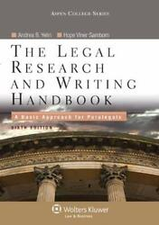 Legal Research and Writing Handbook : A Basic Approach for Paralegals Yelin