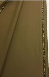 3.5 Metres Brown Super 150s 100 Wool Suit Fabric. By Taylor And Lodge