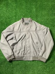 Pre-owned Men's L David Taylor Grey Bomber Jacket Made In Russia