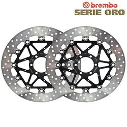 Pair Brake Discs Brembo Front Bmw S 1000 Rr K46 - Forged Wheels 2017