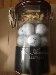 Ascot And Taylor Of St. Andrews Signature Golf Gift Set-golf Balls, Tees And Towel