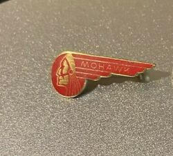Rare Vintage Mohawk Airlines Pin Fly Mohawk Red Chief Logo