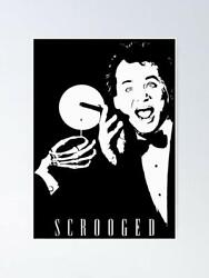Bill Murray Scrooged Cinema Movies Wall Decor Poster, No Frame