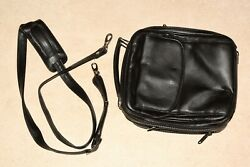 Martin Wess Black Leather 6 Pipe Bag Case W Office Compartment L. New