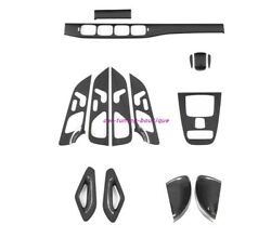 14x Real Carbon Fiber Car Inner Kit Cover Trim For Benz Gle Gls W167 X167 19-20