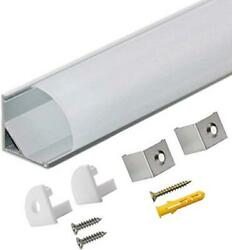 Starlandled 10-pack Led Aluminum Channel V Shape With Milky Pc Assorted Sizes
