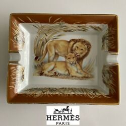 Hermes Lion Cigar Ashtray / Plate / Home Decor / Timeless Collectible Piece