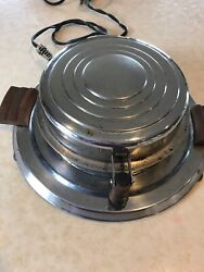 Vintage General Electric Hotpoint Waffle Iron Model 119y191with Cordart Deco