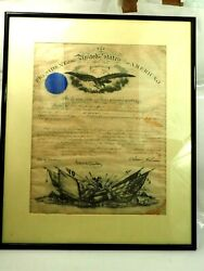 Signed Appointment To Lieutenant Colonel Robert Rayburn By Andrew Johnson Framed