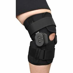Plus Size External Hinged Knee Brace With Compression Wrap For Big And Wide Thighs