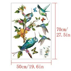 Removable Flowers Bird Wall Stickers Bedroom Living Room Mural Home Decal