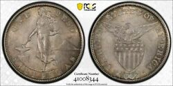 Us Philippines Silver Peso 1907 S Toned Uncirculated Pcgs Ms63